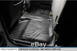 SMARTLINER Floor Mats For Silverado/GMC Sierra Crew Cab 2014-2017 Black B0136