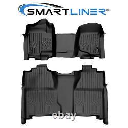 SMARTLINER Floor Mats for 07-13 Silverado/Sierra 1500 / 07-14 2500/3500 Crew Cab