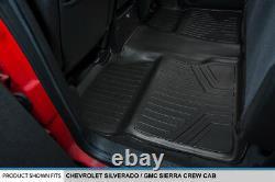 SMARTLINER Floor Mats for 07-13 Silverado Sierra 1500 and 07-14 2500 3500 Crew