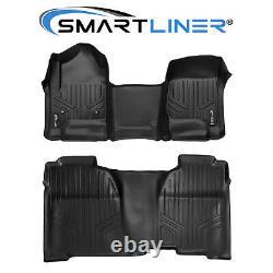 SMARTLINER Floor Mats for 14-18 Silverado/Sierra 1500/15-19 2500/3500 Crew Cab