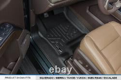SMARTLINER Floor Mats for 14-18 Silverado/Sierra 1500 /15-19 2500/3500 Crew Cab