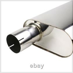 SS Catback Exhaust 4 Rolled Tip for 07-13 Silverado/Sierra 1500 CrewithExt Cab