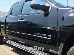 Silverado Gmc Sierra 09-13 Crew Cab CHROME Body Side Molding Overlay Trim
