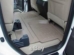 Silverado / Sierra Crew Cab 2007 2013 Cab 2nd Row Tan Floor Liner Mat