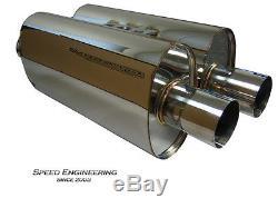 Silverado & Sierra True Dual Exhaust System 1999-06 (Crew & Extended Cab) Rear