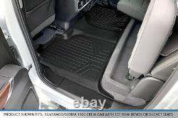 SmartLiner Floor Mats Liner Set for 2019-2020 Silverado Sierra 1500 Crew Cab