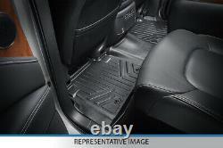 SmartLiner Floor Mats Set for 19-21 Silverado Sierra 1500 Crew Cab Bench Vinyl