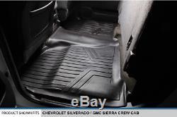 Smartliner 2014-18 Silverado/Sierra 1500 / 2015-19 2500/3500 Crew Cab Floor Mats