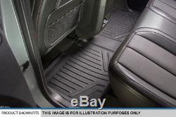 Smartliner Custom Floor Mats Black For 00-07 Silverado/Sierra Crew Cab / SUV