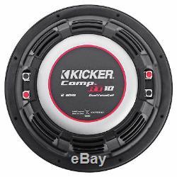 Sub Box+2 Kicker 10 Subwoofers+Amp+For 2014-Up GMC/Chevy Sierra/Silverado Crew