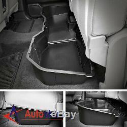 UnderSeat Storage Box Fits For Chevy Silverado 1500 Crew GMC Sierra 14-18