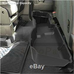 Under Seat Storage Tool Box For 2014-18 Chevrolet Silverado Sierra 1500 Crew Cab