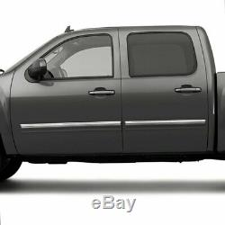 Upper Side Molding Trim for 09-13 Chevy Silverado Crew Cab Stainless Steel 4p