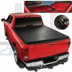 Vinyl Soft Roll-up 6.5FT Short Bed Tonneau Cover For 2014-2018 Silverado Sierra
