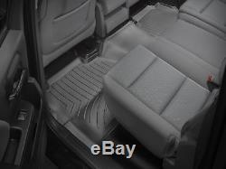 WeatherTech FloorLiner Mats for Silverado Sierra Crew Cab 2-Piece Set Black