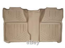 WeatherTech Floor Mat FloorLiner for Silverado/Sierra Crew Cab 2nd Row Tan