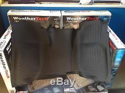 WeatherTech Floor Mat Front & Rear OTH Set Silverado Sierra Crew Cab 2014-2018
