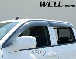 WellVisors Window Visors 14-18 Silverado Sierra Crew Cab Sun Visors Deflectors