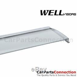 WellVisors Window Visors 14-18 Silverado Sierra Crew Cab Visors Deflectors
